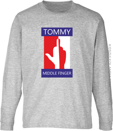 Tommy Middle Finger - Longsleeve dziecięcy