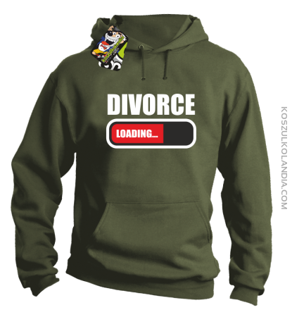 DIVORCE - loading - Bluza z kapturem