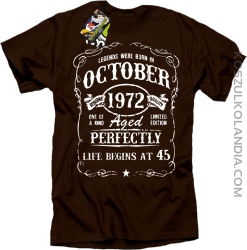 Legends were born in October Aged Perfectly - Koszulka męska brąz