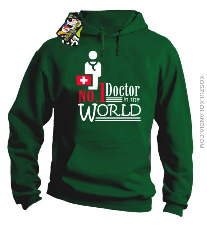 No1 Doctor in the world - Bluza męska z kapturem