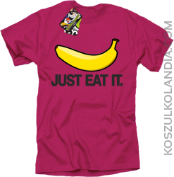 JUST EAT IT Banana - Koszulka męska fuchsia