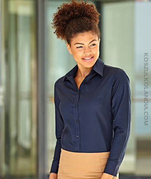 KOSZULA Fruit of the Loom Z DŁUGIM RĘKAWEM LADY-FIT OXFORD SHIRT - 65-002-0