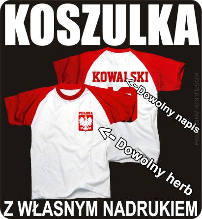 66da6bc8b1cbd3 Koszulka piłkarska REPREZENTACJA POLSKI z własnym nadrukiem - Koszulki  POLSKA