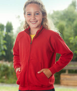 Fruit of the Loom BLUZA DZIECIĘCA CLASSIC  SWEAT JACKET  - 62-005-0