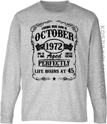 Legends were born in October Aged Perfectly - Longsleeve dziecięcy melanż