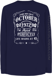 Legends were born in October Aged Perfectly - Longsleeve dziecięcy granat