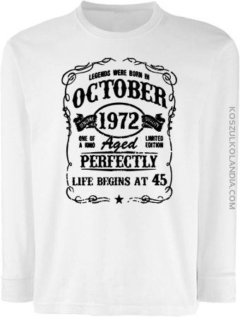 Legends were born in October Aged Perfectly - Longsleeve dziecięcy