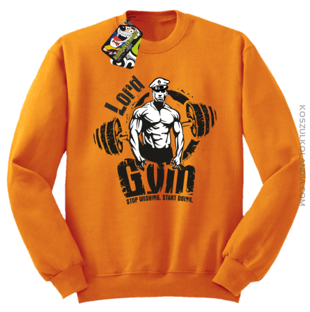 LORD Gym Stop wishing Start Doing - Bluza męska standard bez kaptura