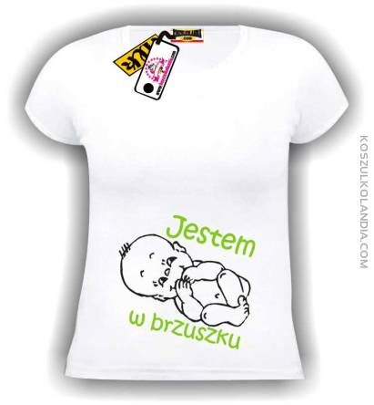 163ea68ca28fa3 Jestem w brzuszku koszulka damska Nr KODIA00049d