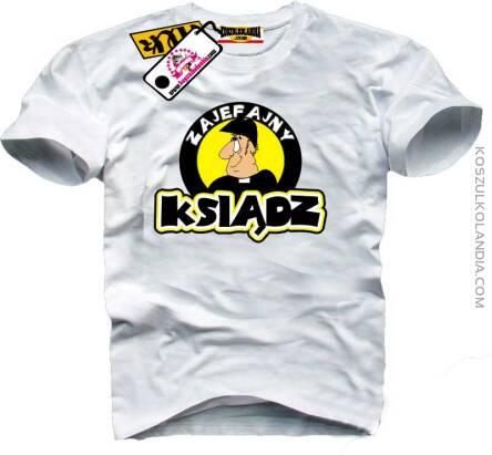 Góra ZAJEFAJNY Ksiądz - Śmieszne koszulki z nadrukiem na zamówienie LB65
