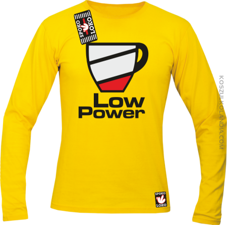 LOW POWER - Longsleeve męski