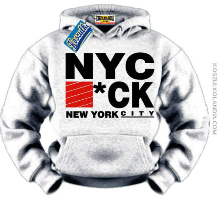 NYC #*CK New York City Bluza Sweatshirt Hooded Nr KODIA00153bl