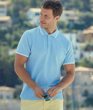 KOSZULKA Fruit of the Loom PREMIUM TIPPED POLO - 63-032-0