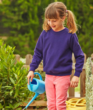 Fruit of the Loom BLUZA DZIECIĘCA PREMIUM  RAGLAN