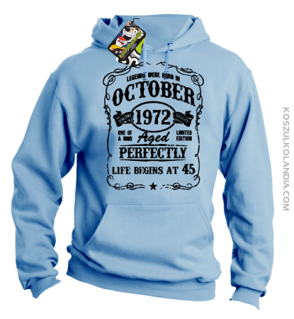 Legends were born in October Aged Perfectly - Bluza męska z kapturem