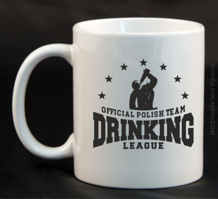 Official Polish Team Drinking League - Kubek ceramiczny