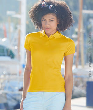 KOSZULKA damska Fruit of the Loom POLO LADY-FIT PREMIUM 63-030-0