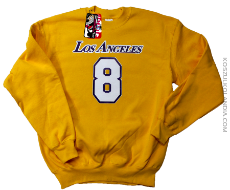 LOS ANGELES 8 Basketball - bluza standard żółta