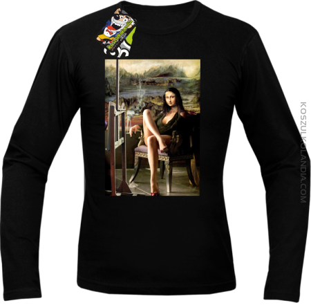 Mona Lisa Model Art - Longsleeve męski