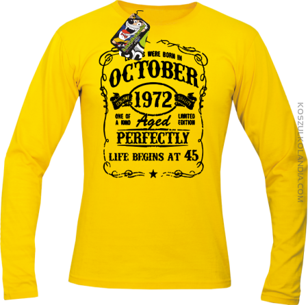 Legends were born in October Aged Perfectly - Longsleeve męski