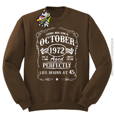 Legends were born in October Aged Perfectly - Bluza męska standard bez kaptura