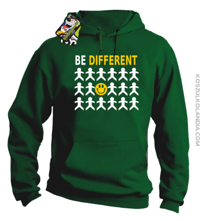 BE DIFFERENT - Bluza męska z kapturem