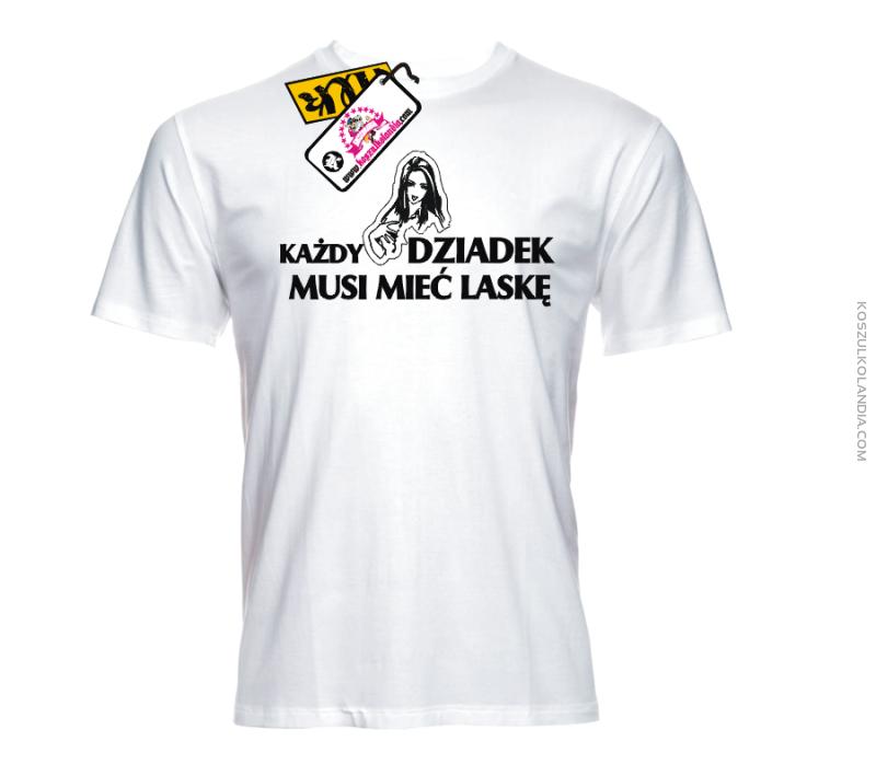 22fc954304e3 Każdy dziadek musi mieć laskę - zajefajna koszulka męska Nr KODIA00113