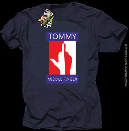 Tommy Middle Finger - Koszulka męska