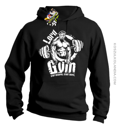 LORD Gym Stop wishing Start Doing - Bluza męska z kapturem