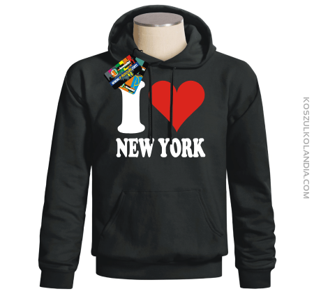 I LOVE NEW YORK - bluza z nadrukiem
