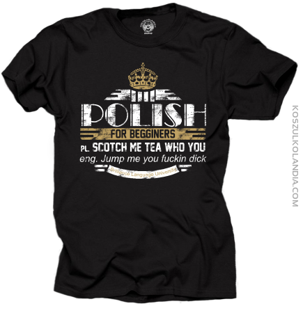 Polish for Begginers Scotch Me Tea Who You - Koszulka męska