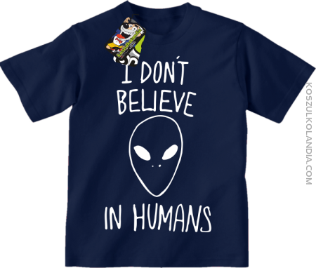 Cosmic Face I dont believe in humans - koszulka dziecięca