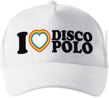 I Love DISCO POLO - czapka jokeyka