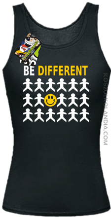 BE DIFFERENT - Top damski czarny