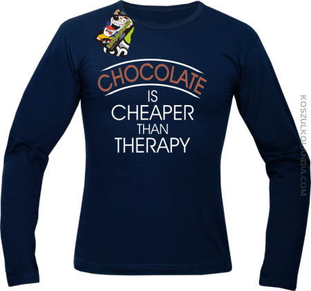 Chocolate is cheaper than therapy - Longsleeve męski