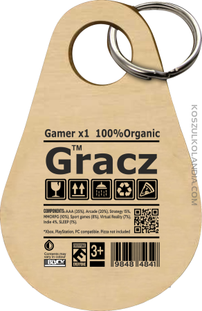 Gracz GAMER - brelok