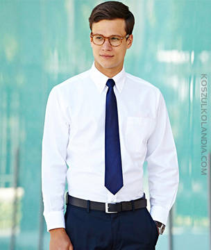 KOSZULA Fruit of the Loom Z DŁUGIM RĘKAWEM - OXFORD SHIRT -   65-114-0