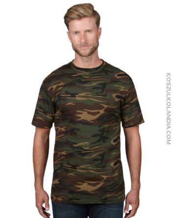 e6c8ad787 Anvil Camouflage MORO Wojskowe T-shirt Heavyweight - koszulka męska + opcja  własny nadruk