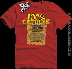 100% Tatulek Kodeks spotykania się z moją córką - Dzień Ojca Dzień Taty - koszulka dla Taty