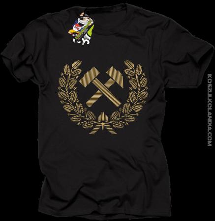 Pyrlik i żelazko znak górniczy herb górnictwa - Koszulka męska