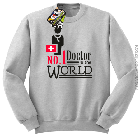 No1 Doctor in the world - Bluza męska standard bez kaptura