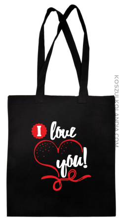 I LOVE YOU - RETRO - Torba na zakupy