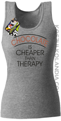Chocolate is cheaper than therapy - Top damski melanż