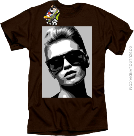 Woman in sunglasses BlackWhite - koszulka męska