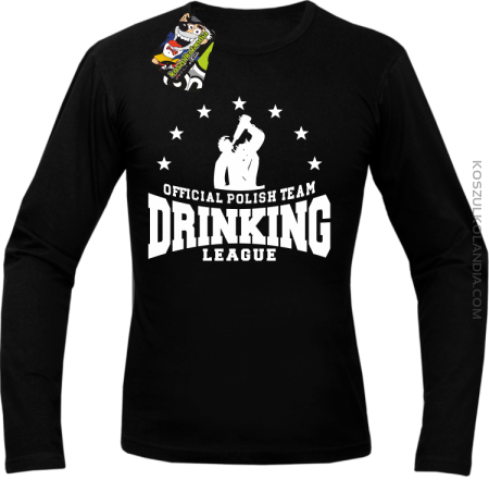 Official Polish Team Drinking League - Longsleeve męski