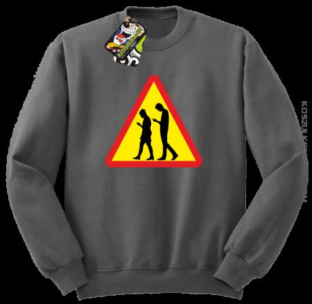 UWAGA komórkowe zombie - ATTENTION cellular zombie - Bluza STANDARD