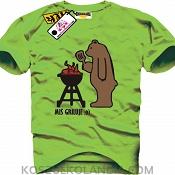 Miś griluje - koszulka męska