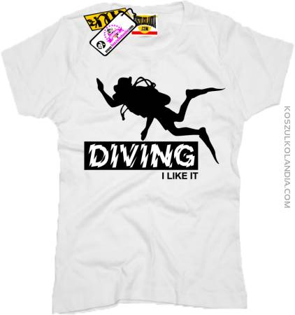 DIVING I LIKE IT - Koszulka Damska