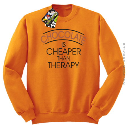 Chocolate is cheaper than therapy - Bluza męska standard bez kaptura