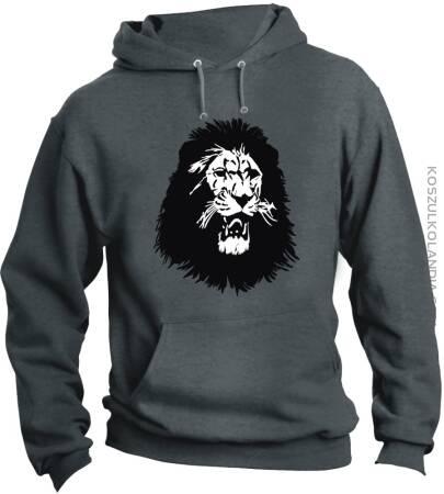 Lion Furious Face Lwia Twarz - Bluza męska